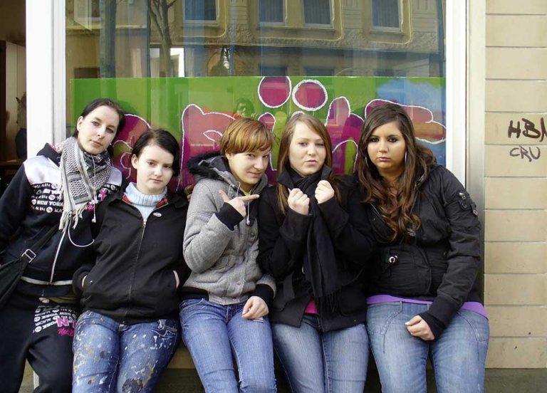 Foto Gruppe von Mädchen